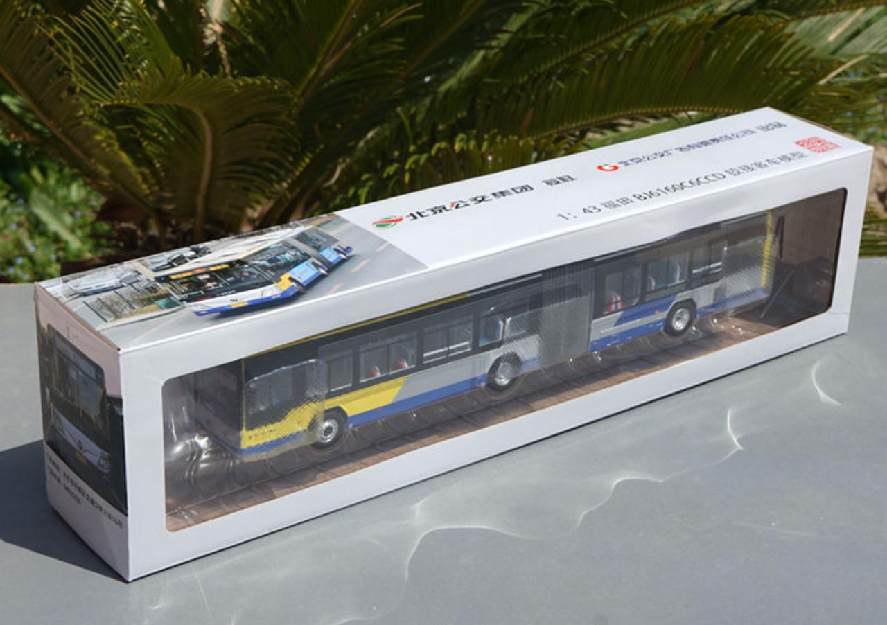 1/43 Foton BJ6160C6CCD Articulated Public Transportation Bus w/ headlights & interior lights Diecast Car Model