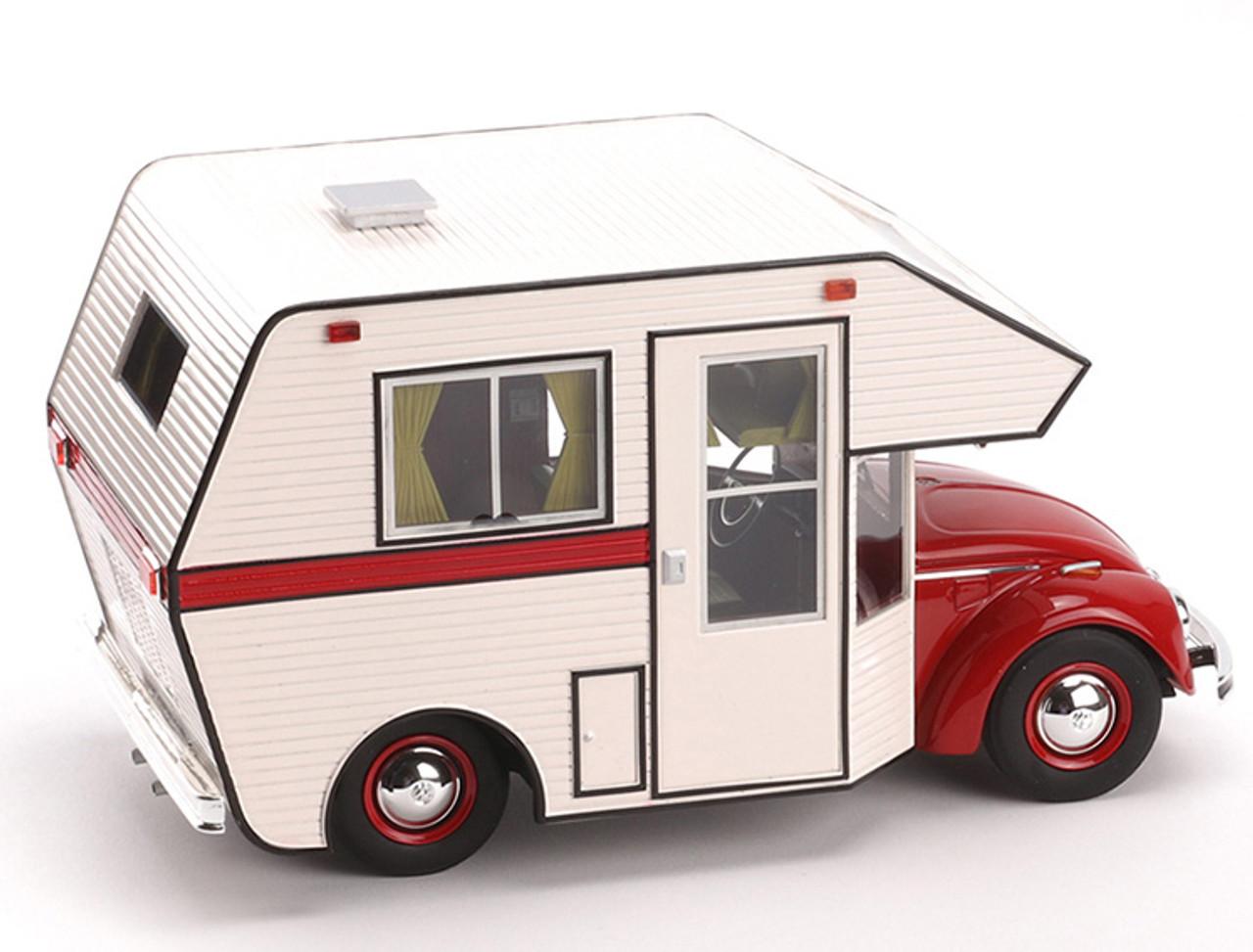 1/18 Schuco Volkswagen VW Kaefer Beetle RV Camper (Red) Diecast Car Model