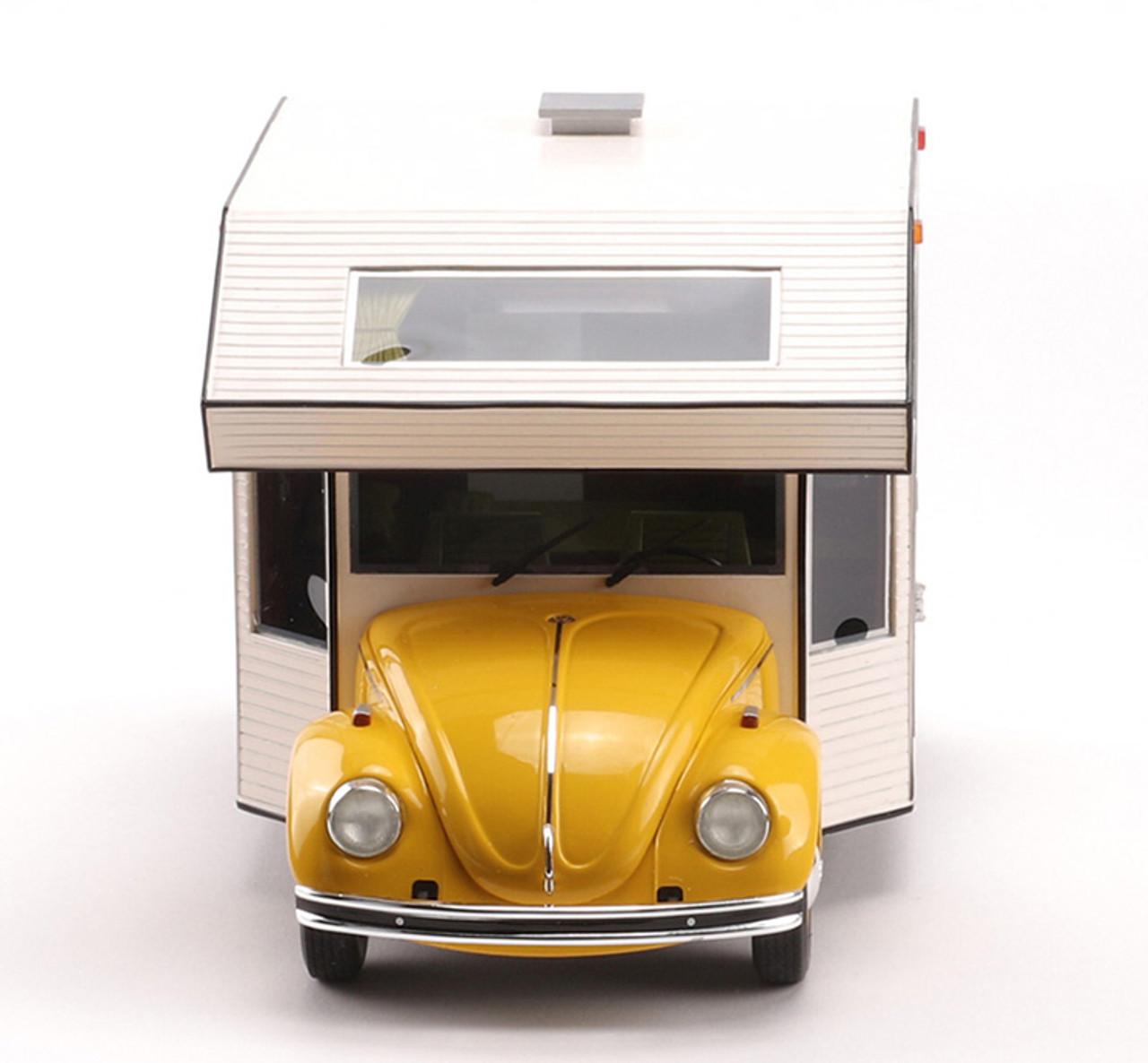 1/18 Schuco Volkswagen VW Kaefer Beetle RV Camper (Yellow) Diecast Car Model