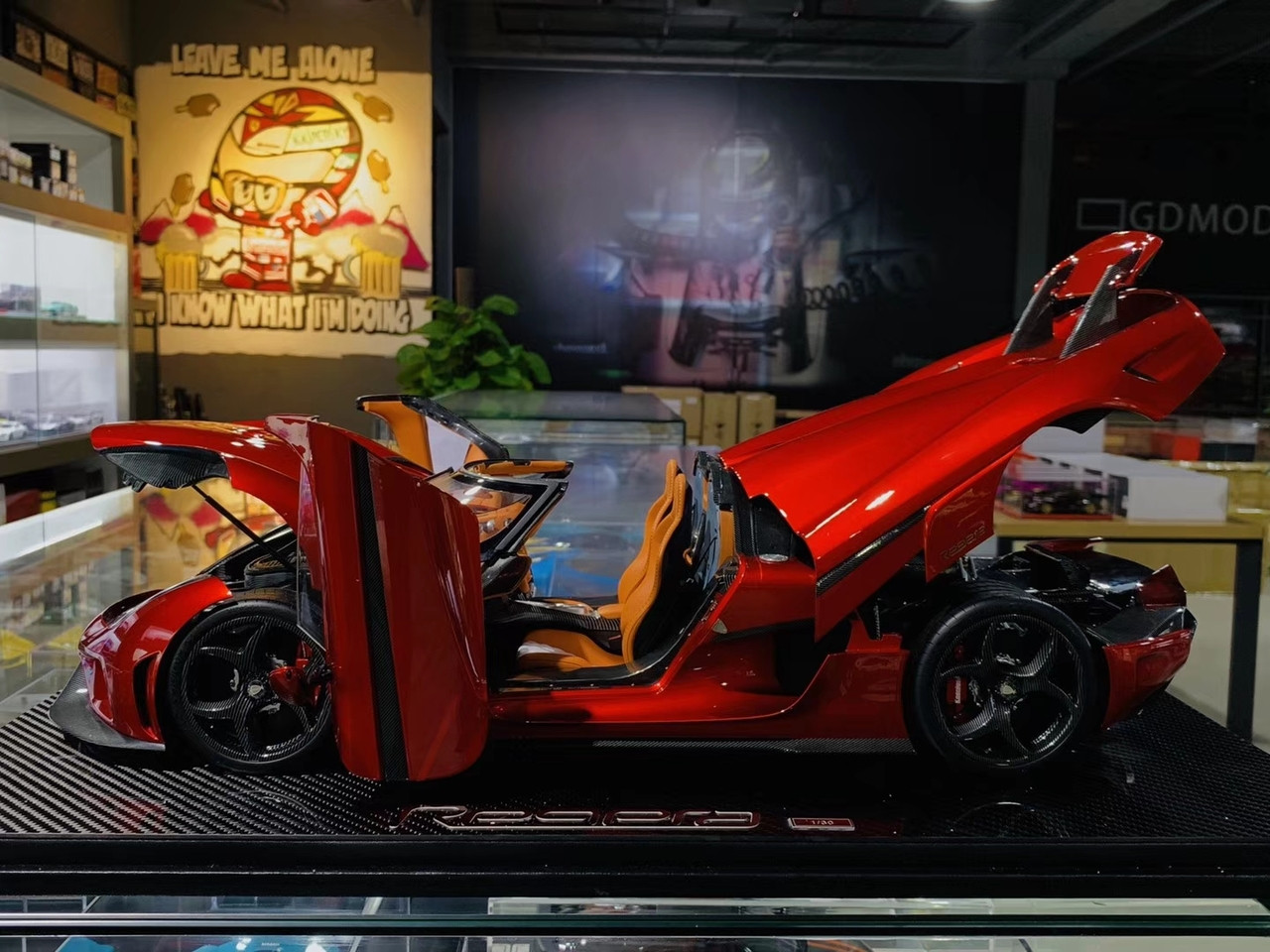 1/8 Frontiart FA Koenigsegg Regera (Red) Serial No.1 Fully Open Car Model w/ Lights