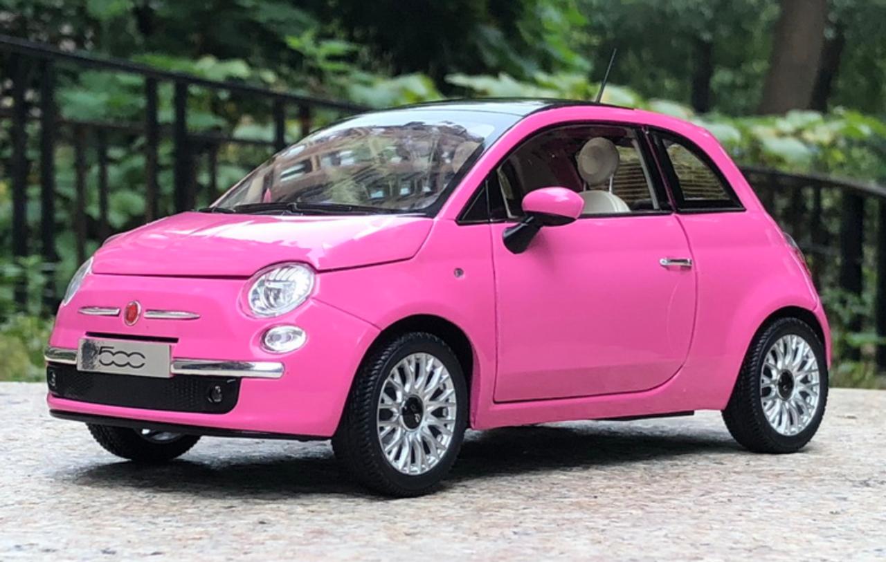 1 18 Norev Fiat 500 Pink Diecast Car Model Livecarmodel Com