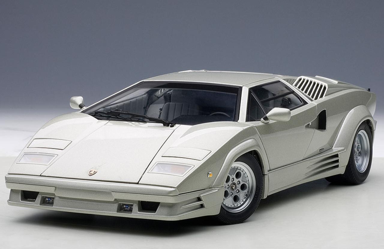1 18 Autoart Lamborghini Countach 25th Anniversary Edition Silver