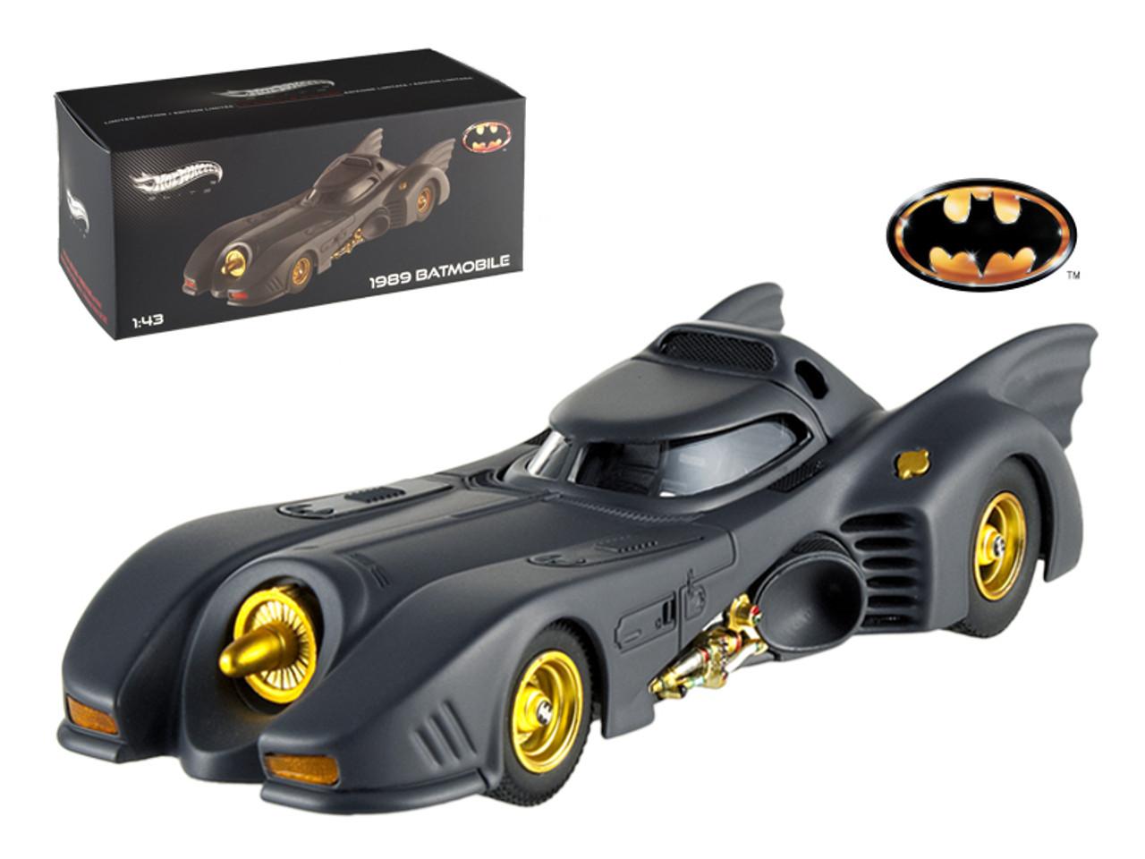 1/43 Hot Wheels Hotwheels 1989 Movie Batmobile Elite Edition Diecast Car Model