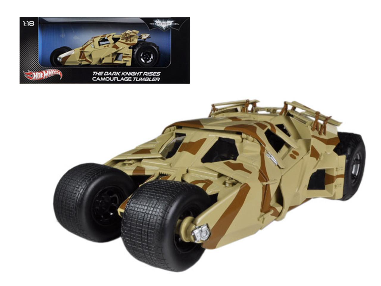 "1/18 Hot Wheels Hotwheels ""The Dark Knight Rises"" Batmobile Tumbler Camouflage Diecast Car Model"