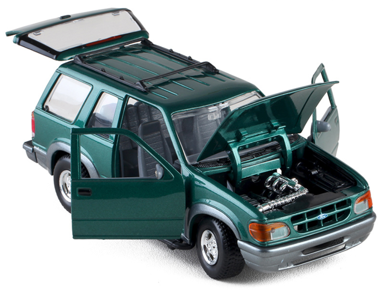 1/24 Ford Explorer (Green) Diecast Car Model (no box)