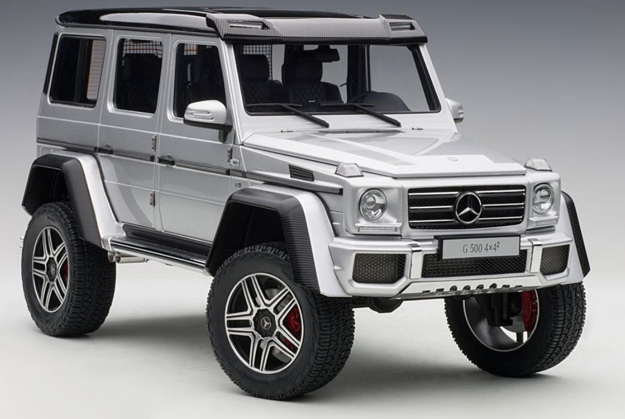 1 18 Autoart Mercedes Benz G Klasse G Class G500 4x4 2 Silver Diecast Car Model 76318