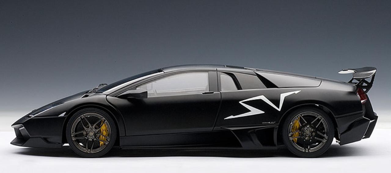 1 18 Autoart Lamborghini Murcielago Lp670 4 Sv Nero Nemesis Matt