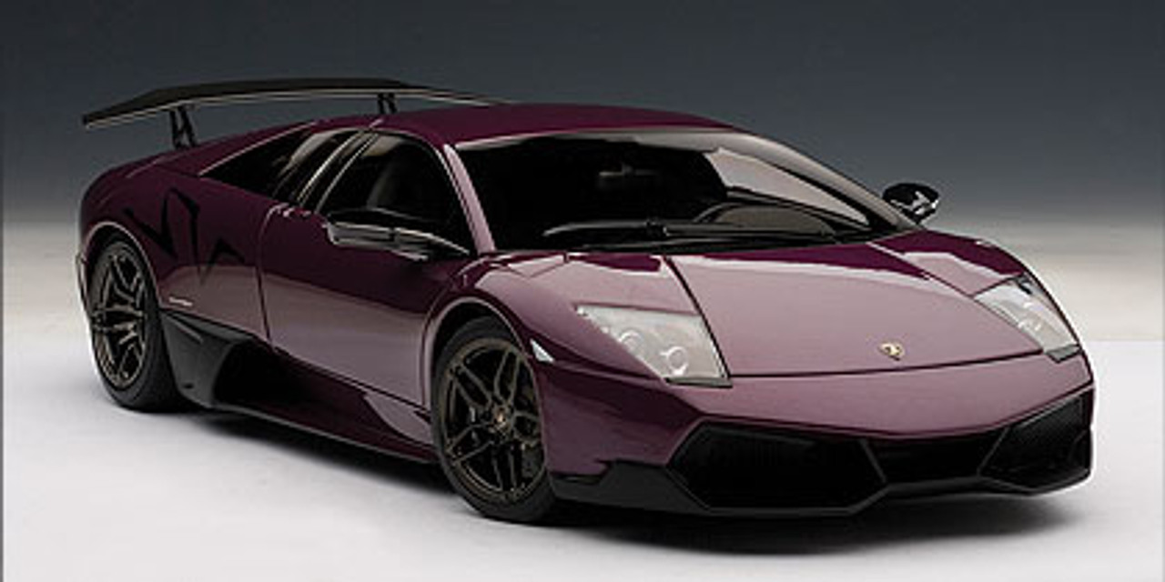 1 18 Autoart Lamborghini Murcielago Lp670 4 Sv Viola Ophelia