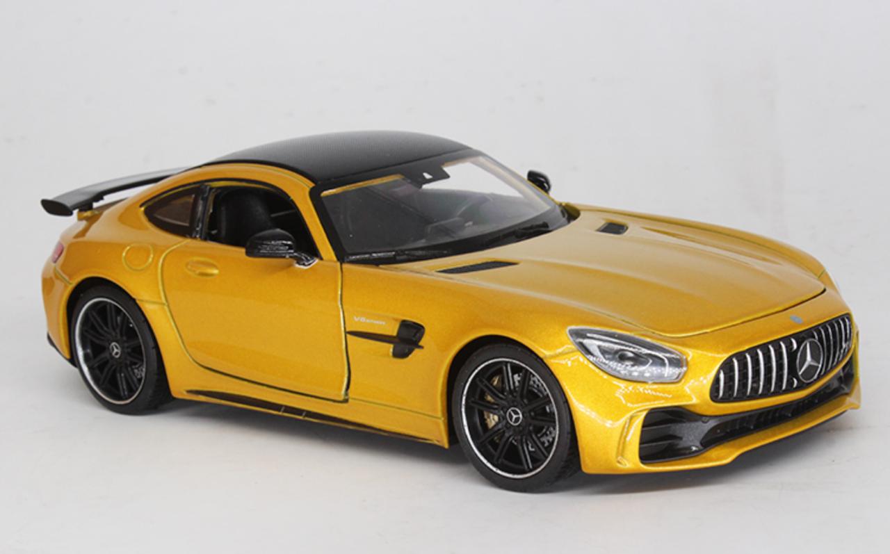 1 24 Welly Fx Mercedes Benz Mercedes Amg Gtr Gt R Orange Diecast Car Model