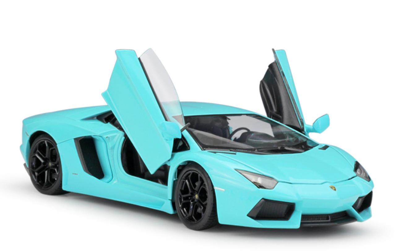 1 24 Welly Fx Lamborghini Aventador Lp700 4 Blue Diecast Car Model Livecarmodel Com