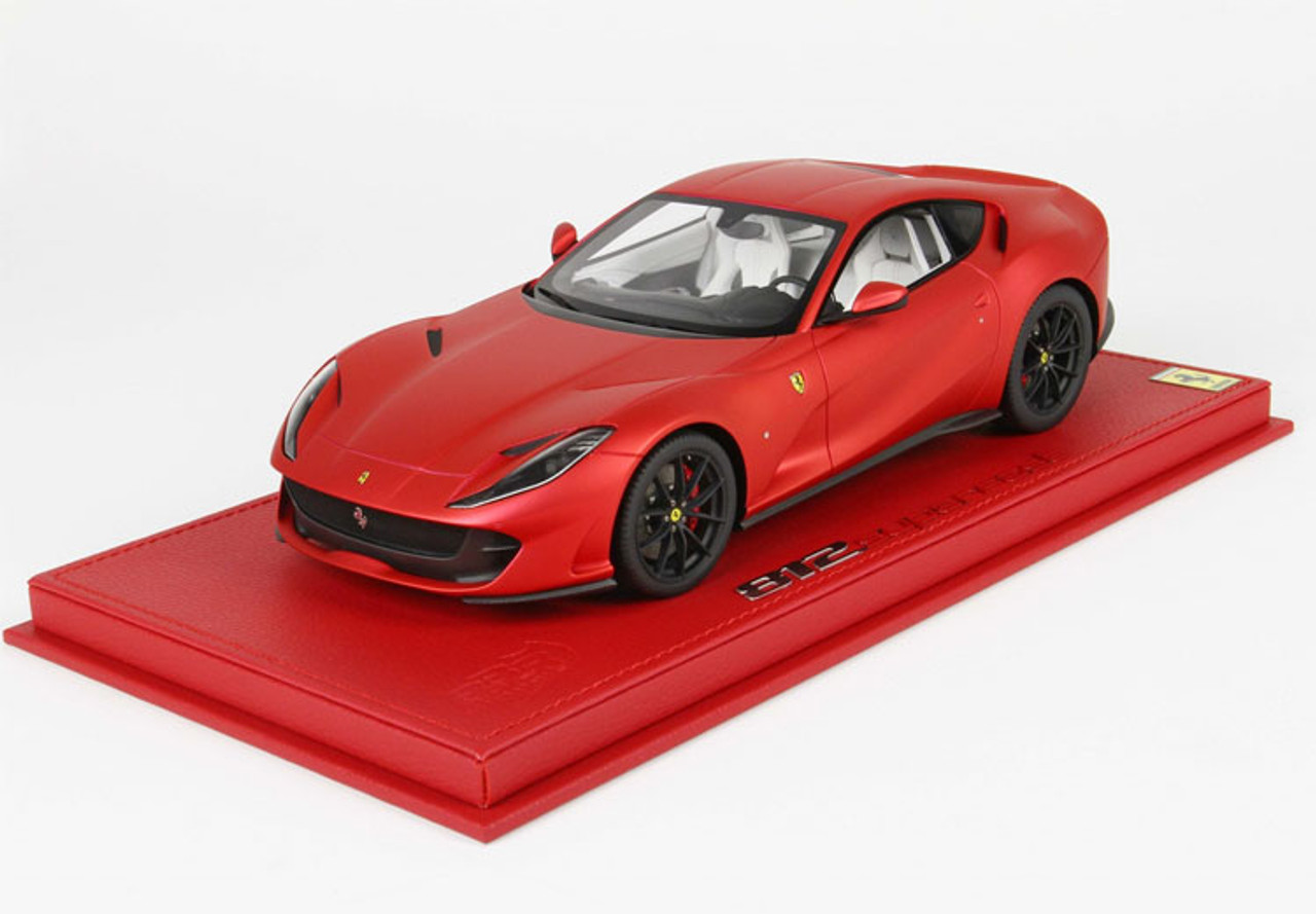 1 18 Bbr Ferrari 812 Superfast Rosso F1 Opaco Red W Black Wheels Resin Car Model Limited Livecarmodel Com