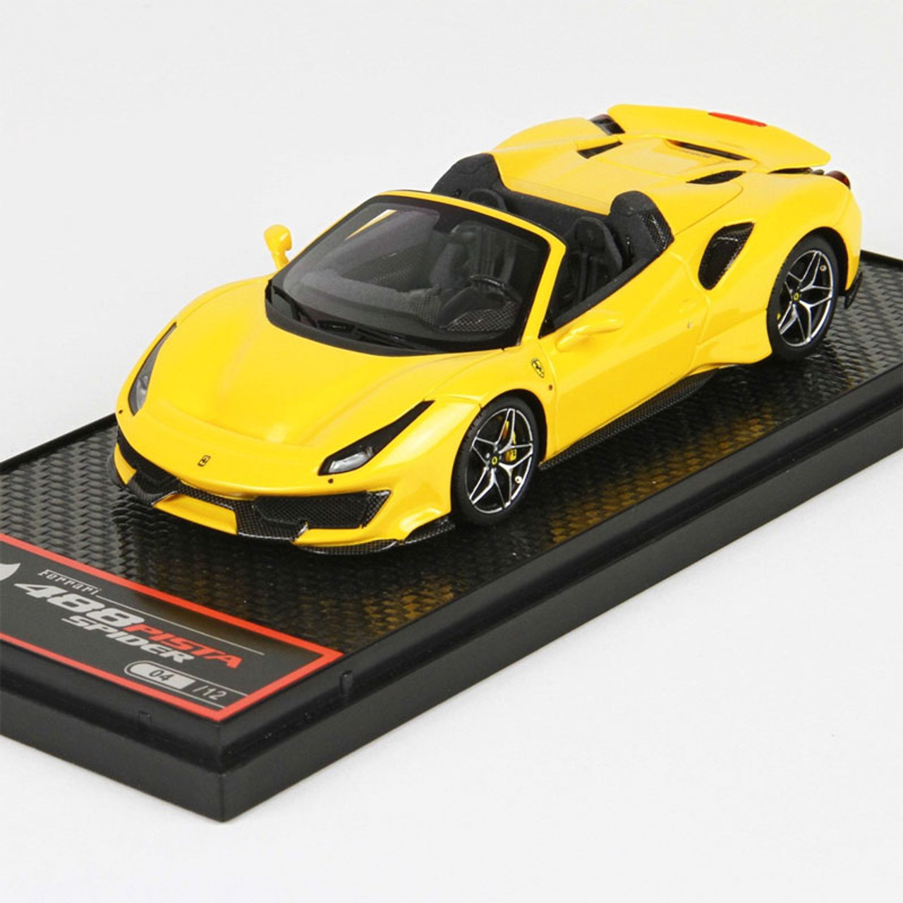1/43 BBR Ferrari 488 Pista Spider Yellow Modena Limited 12