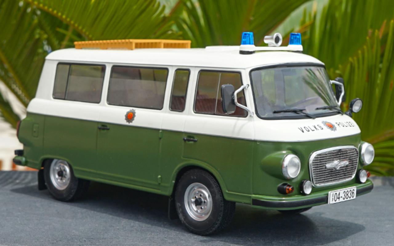 1/18 Model Car Group Barkas B1000 B 1000 Volks Polizei Police Car Diecast  Car Model