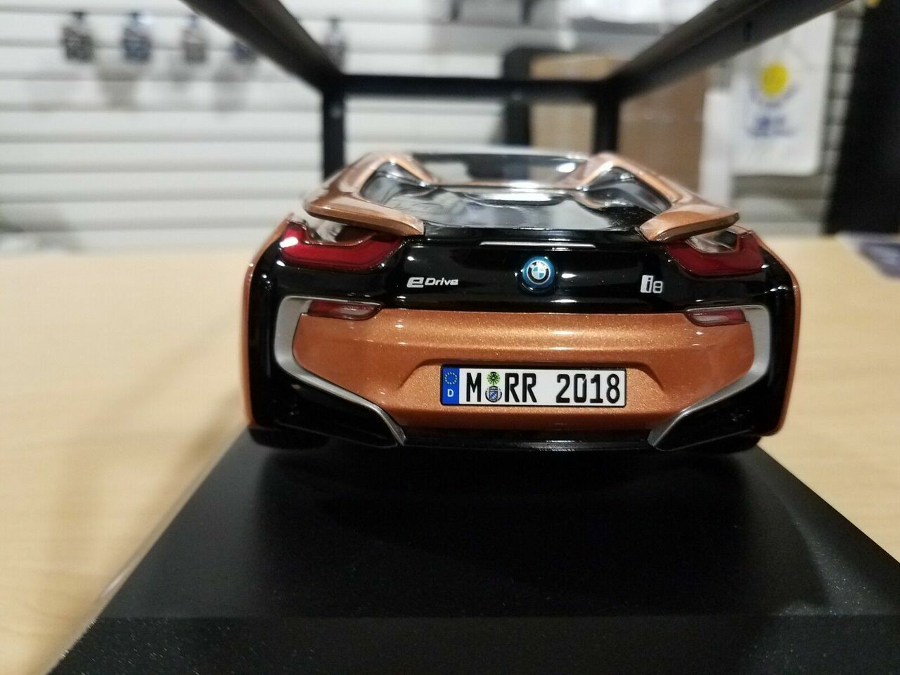 1 18 Dealer Edition Bmw I8 Roadster Copper Orange Black Diecast Car Model Livecarmodel Com