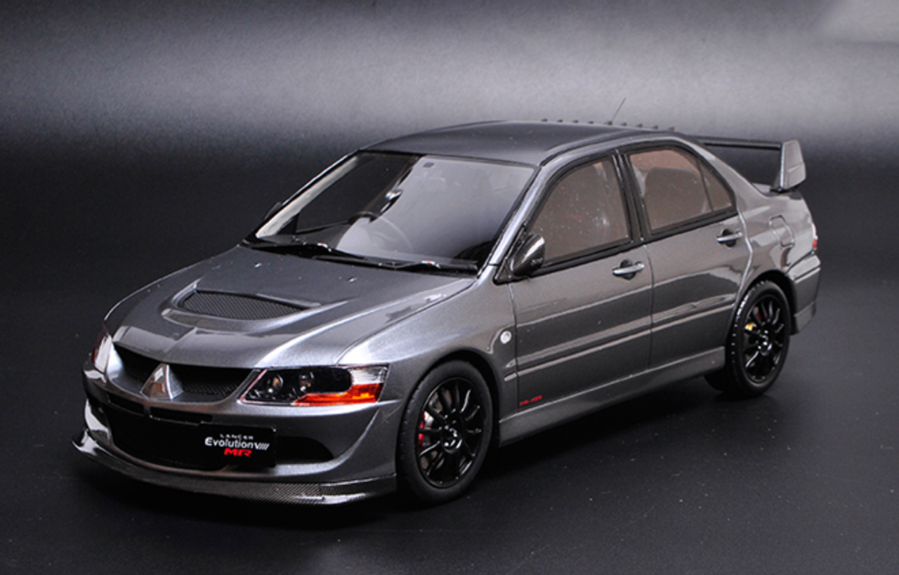 1 18 otto mitsubishi lancer evolution 8 evo 8 evo viii mr fq 400 grey resin car model limited