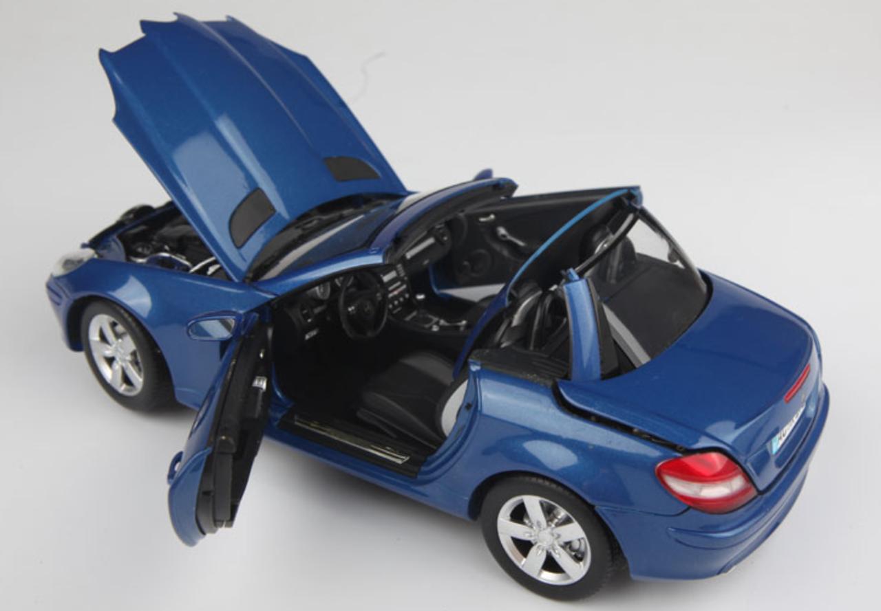 1 18 Minichamps Mercedes Benz Mercedes Slk Class Slk Klasse Convertible Blue Diecast Car Model Livecarmodel Com