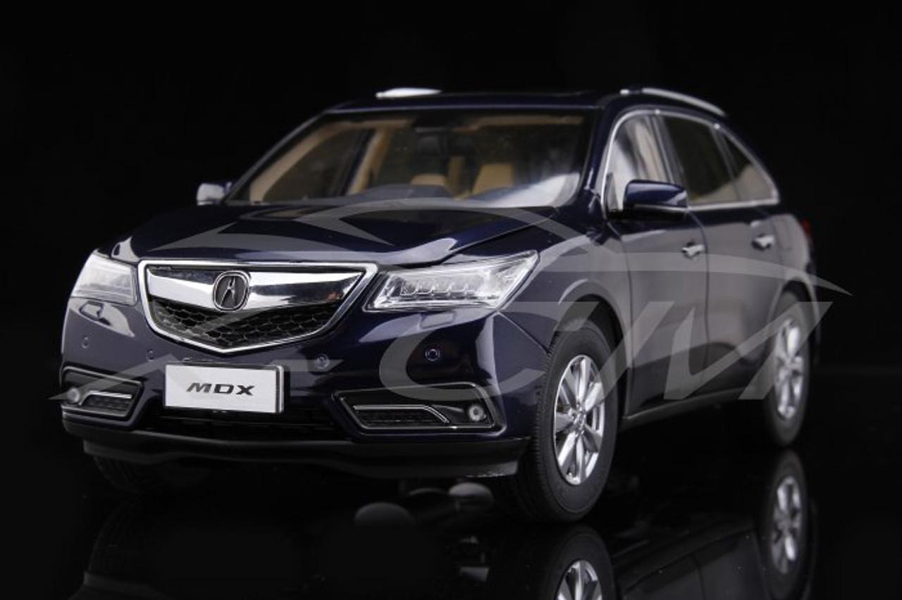 1 18 Dealer Edition 2015 Acura Mdx Blue Diecast Car Model Livecarmodel Com