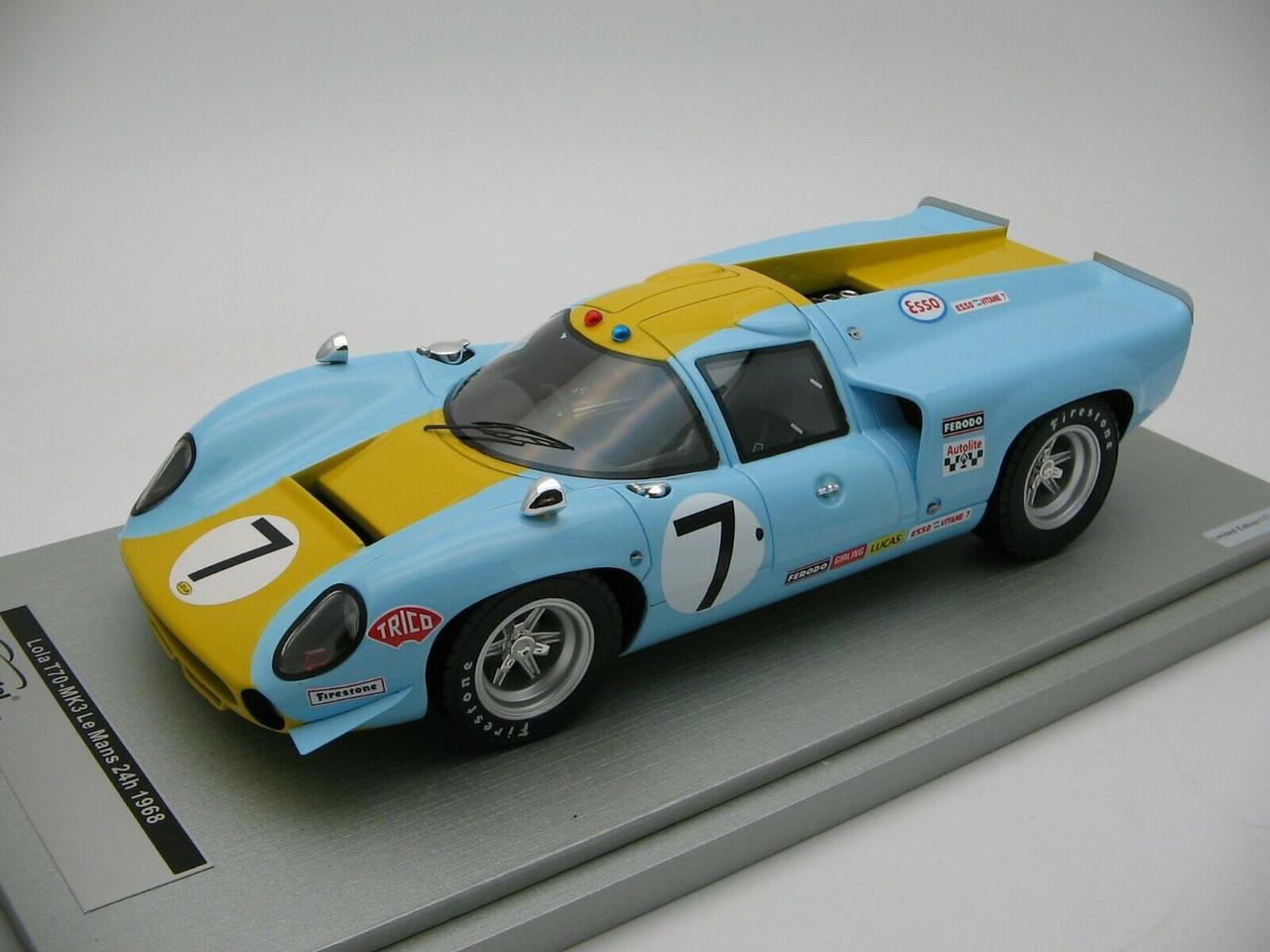 TM18-67C 1//18 Scale Tecnomodel Lola T70 MK3 Nurburgring 1000 km 1967 Car #1P