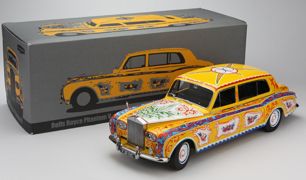 Paragon Rolls Royce Phantom V MPW Limousine Schwarz Rechtslenker 1964 1//18 Modell Auto mit individiuellem Wunschkennzeichen