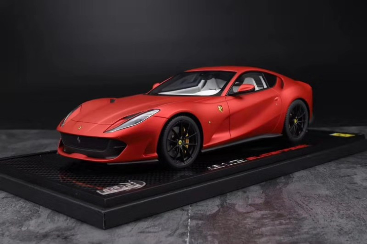 1 18 Bbr Ferrari 812 Superfast Matte Red Resin Car Model W Leather Case Limited 20 Pieces Livecarmodel Com