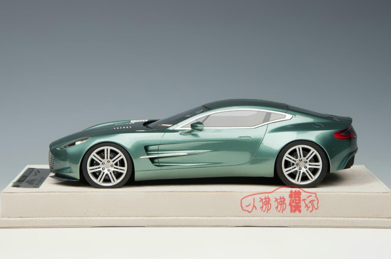 1 18 Tecnomodel Aston Martin One 77 Green Resin Car Model Livecarmodel Com