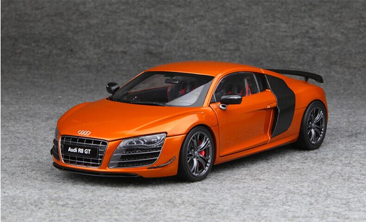 1 18 Kyosho Audi Collection Audi R8 Gt Orange Diecast Car Model Livecarmodel Com