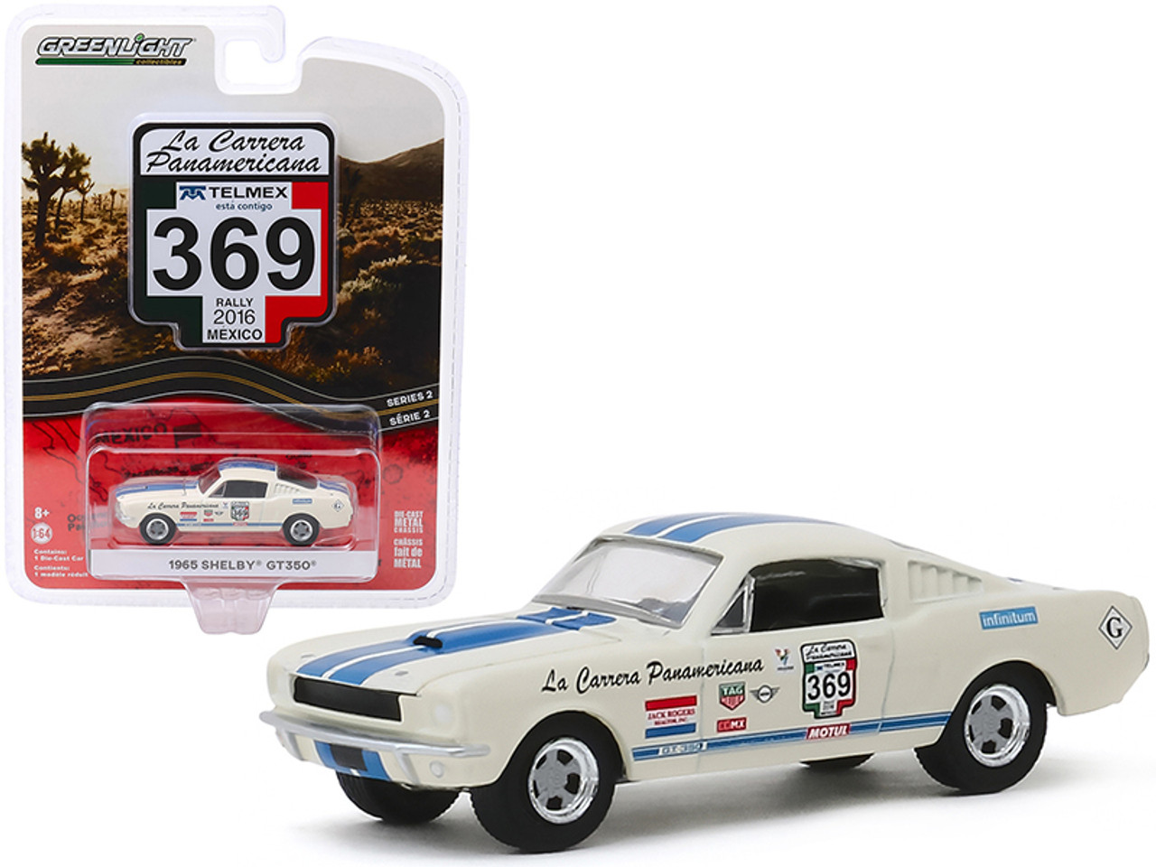 Greenlight 1:64 Hobby Exclusive 1965 Shelby GT-350 Reynolds Ford 29949 Diecast