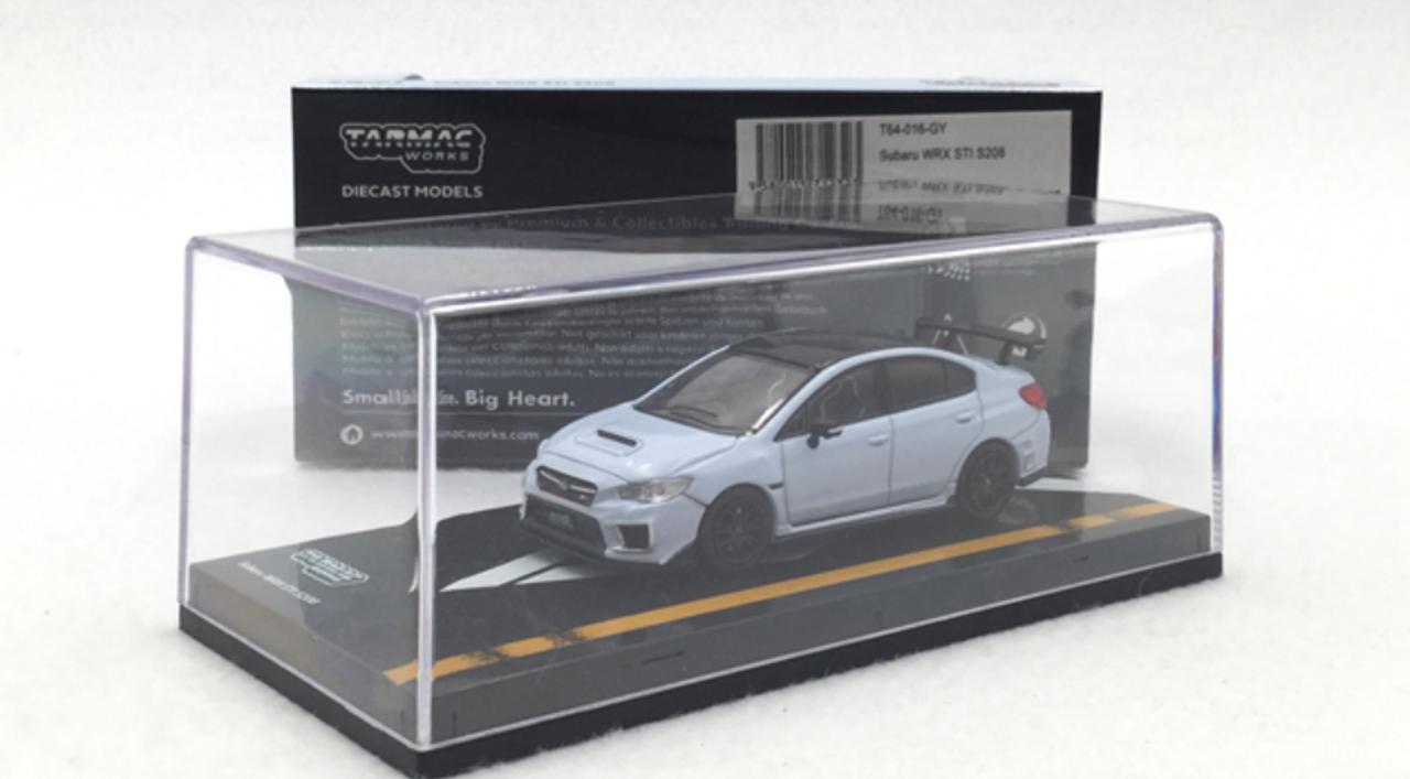 Tarmac Works Subaru Impreza WRX STi S208 Cool Grey Khaki 1//64