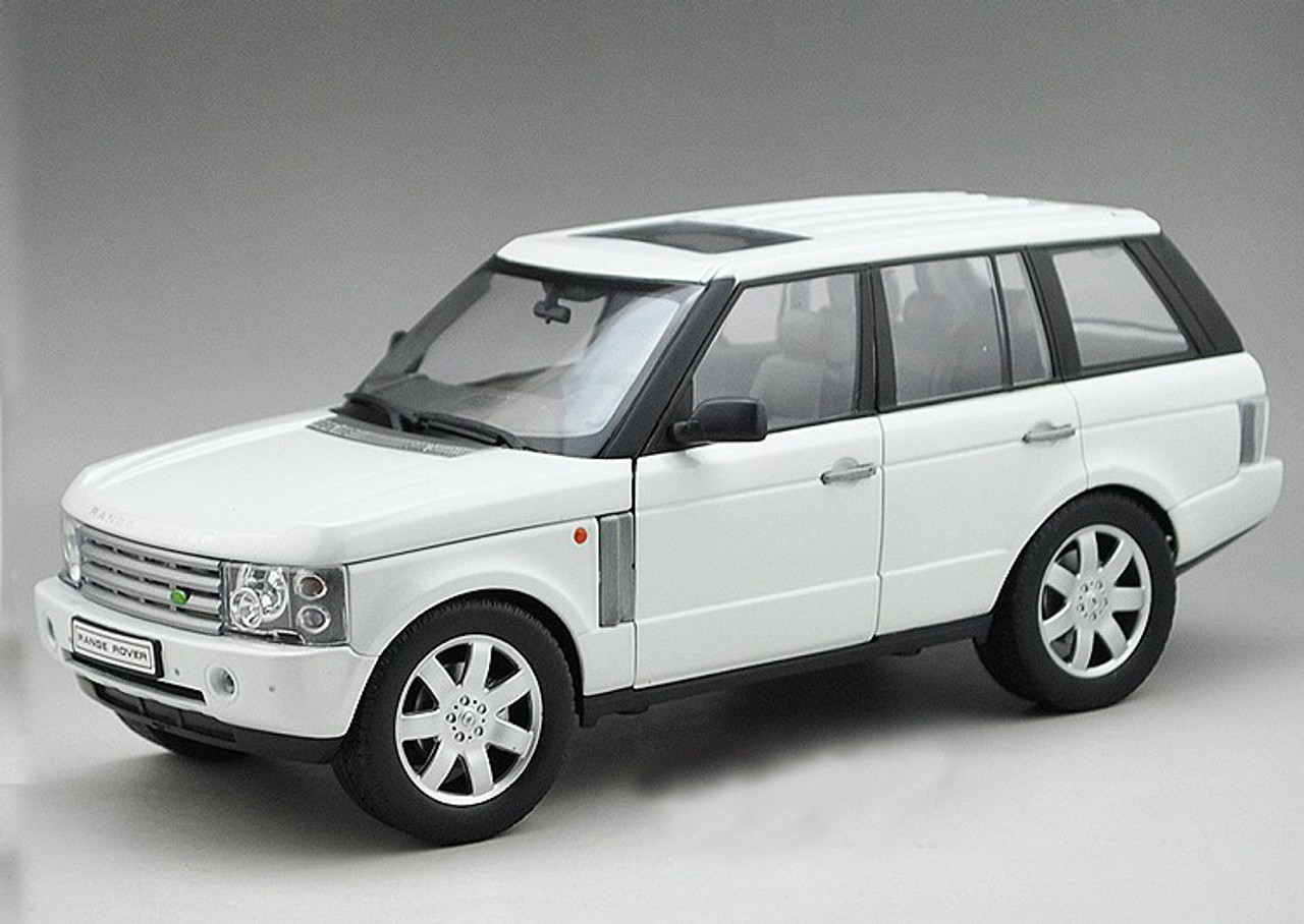 Land Rover Models >> 1 18 Land Rover Range Rover White Diecast Car Model