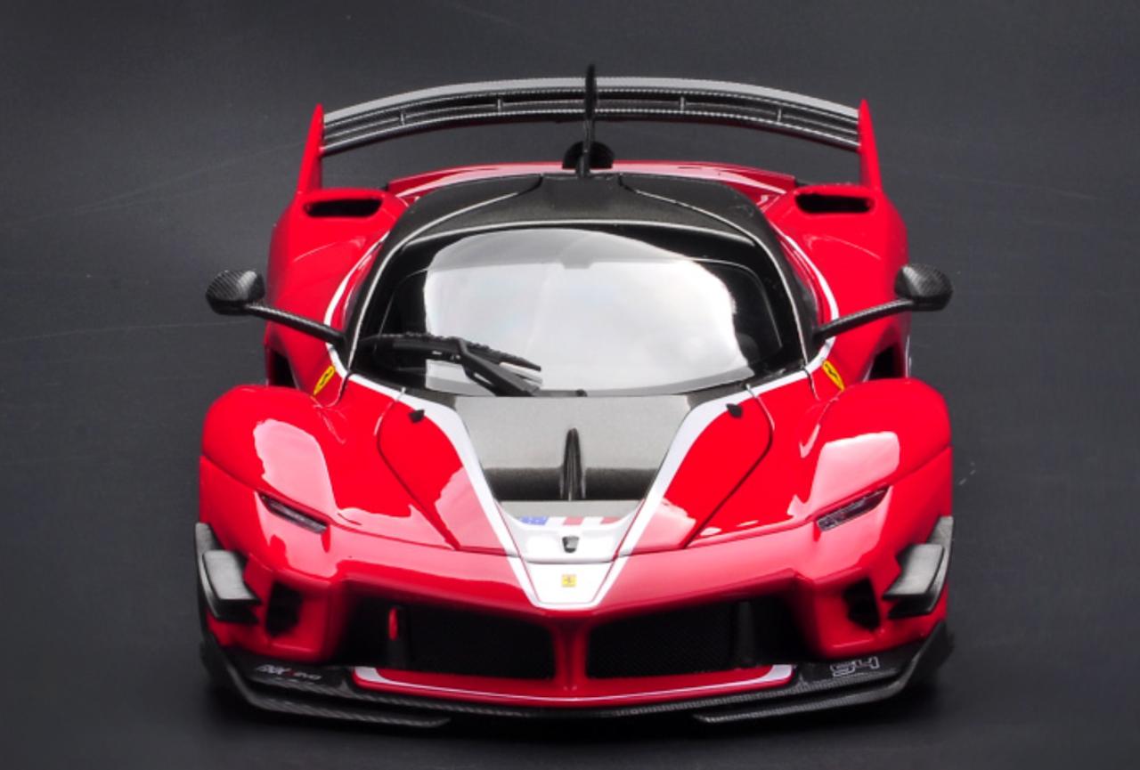 1 18 Bburago Signature Series Ferrari Laferrari Fxxk Evo 54 Red Diecast Model Livecarmodel Com