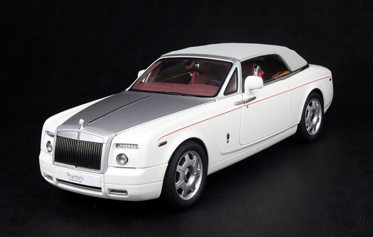 1 18 Kyosho Rolls Royce Phantom Coupe Soft Top Convertible White Diecast Model Livecarmodel Com
