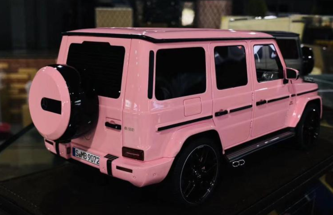 1 18 Motorhelix Mercedes Benz Mercedes G63 Amg Pink Car Model Limited Livecarmodel Com
