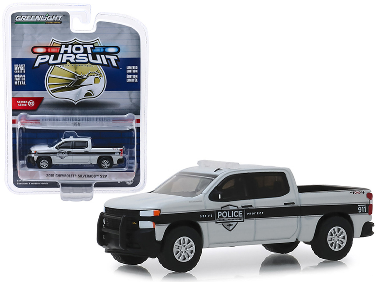 2019 Chevrolet Silverado Pickup Truck AMR IndyCar Safety Team with Safety Equipment in Truck Bed 1//64 Diecast Model Car by Greenlight 30036
