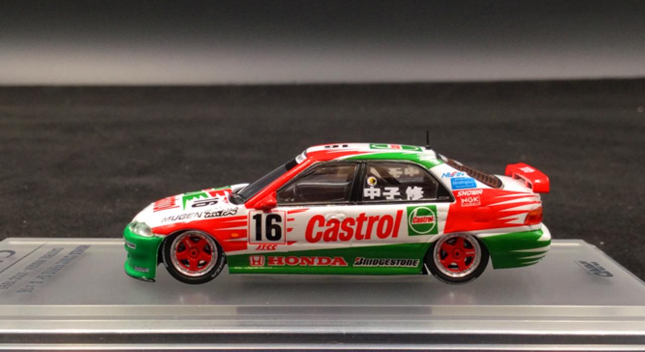 INNO64 1:64 Honda Civic Ferio Gr.A #16 CASTROL MUGEN Racing Diecast Car