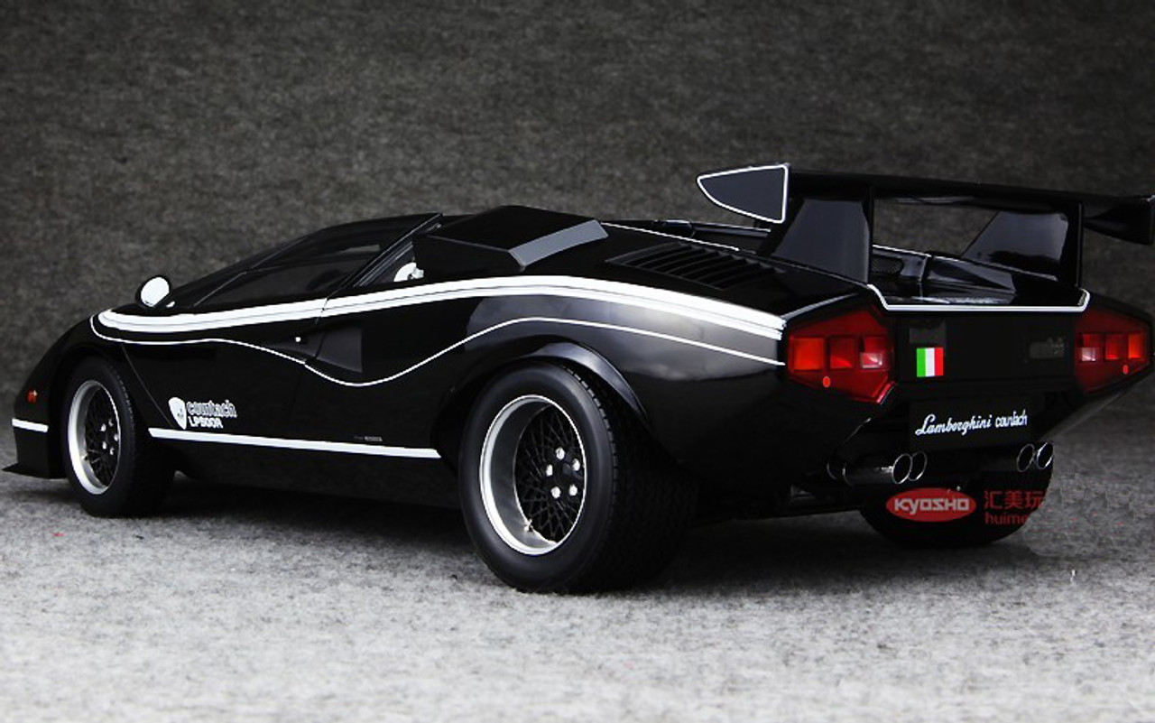 Kyosho 1 12 Lamborghini Countach Lp500r Black Diecast Model