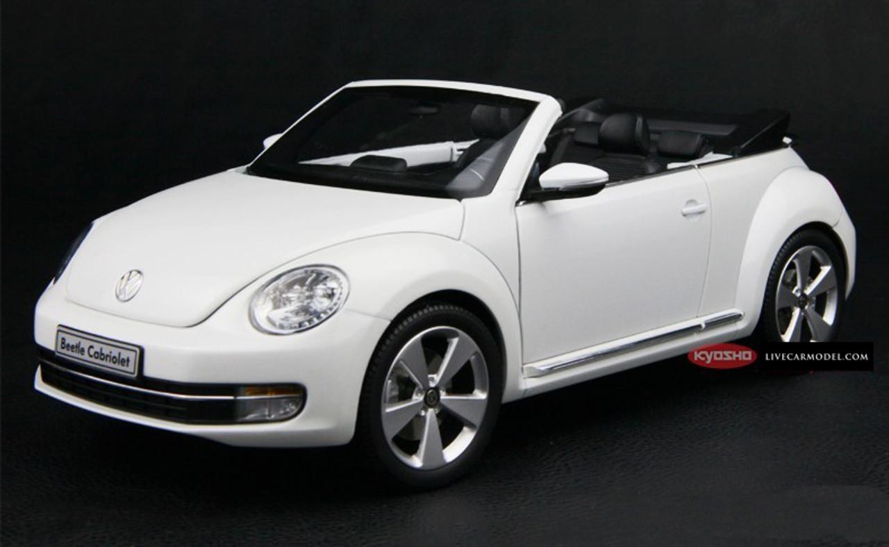1 18 Kyosho Volkswagen Vw Beetle Covertible White Diecast Car Model Livecarmodel Com