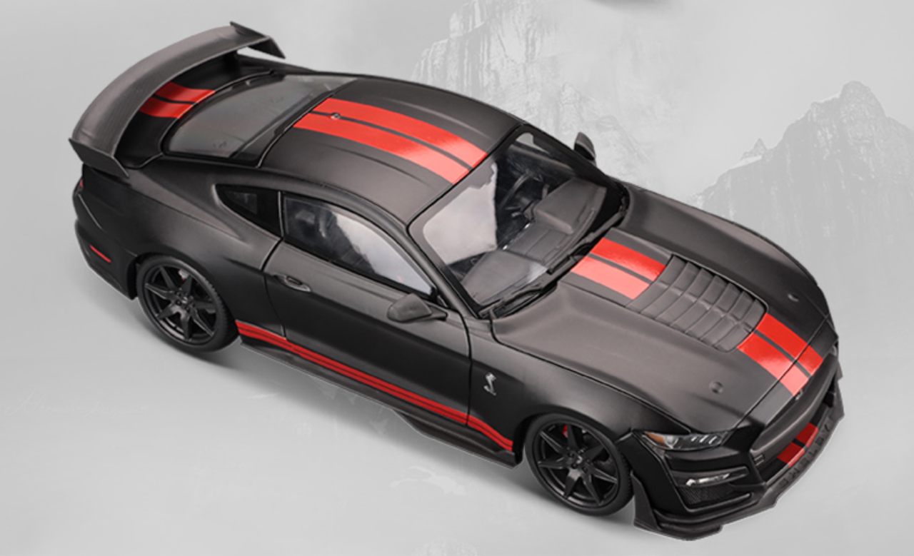 1/18 2020 Ford Mustang Shelby GT500 (Matte Black w/ Red ...