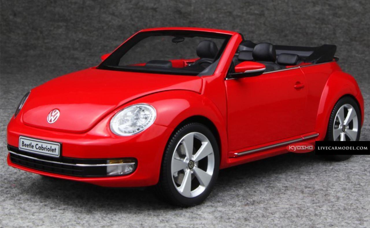 1 18 Kyosho Volkswagen Vw Beetle Red Convertible Diecast Car Model Livecarmodel Com
