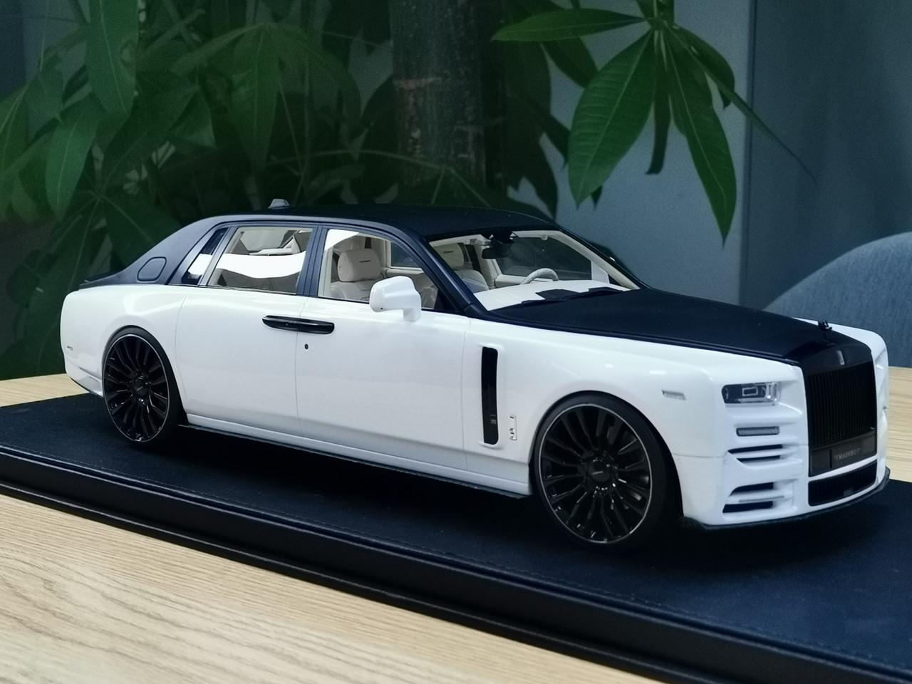 1 18 Mansory Rolls Royce Rr Phantom Viii White Black Resin Car Model Limited 99 Pieces Livecarmodel Com