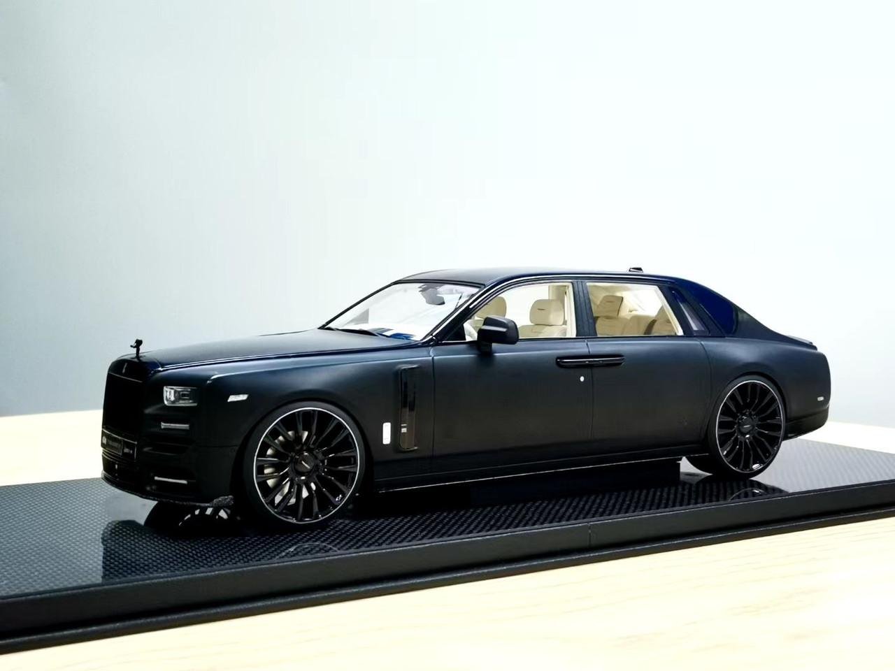 1 18 Mansory Rolls Royce Rr Phantom Viii Matte Black Resin Car Model Limited 99 Pieces Livecarmodel Com
