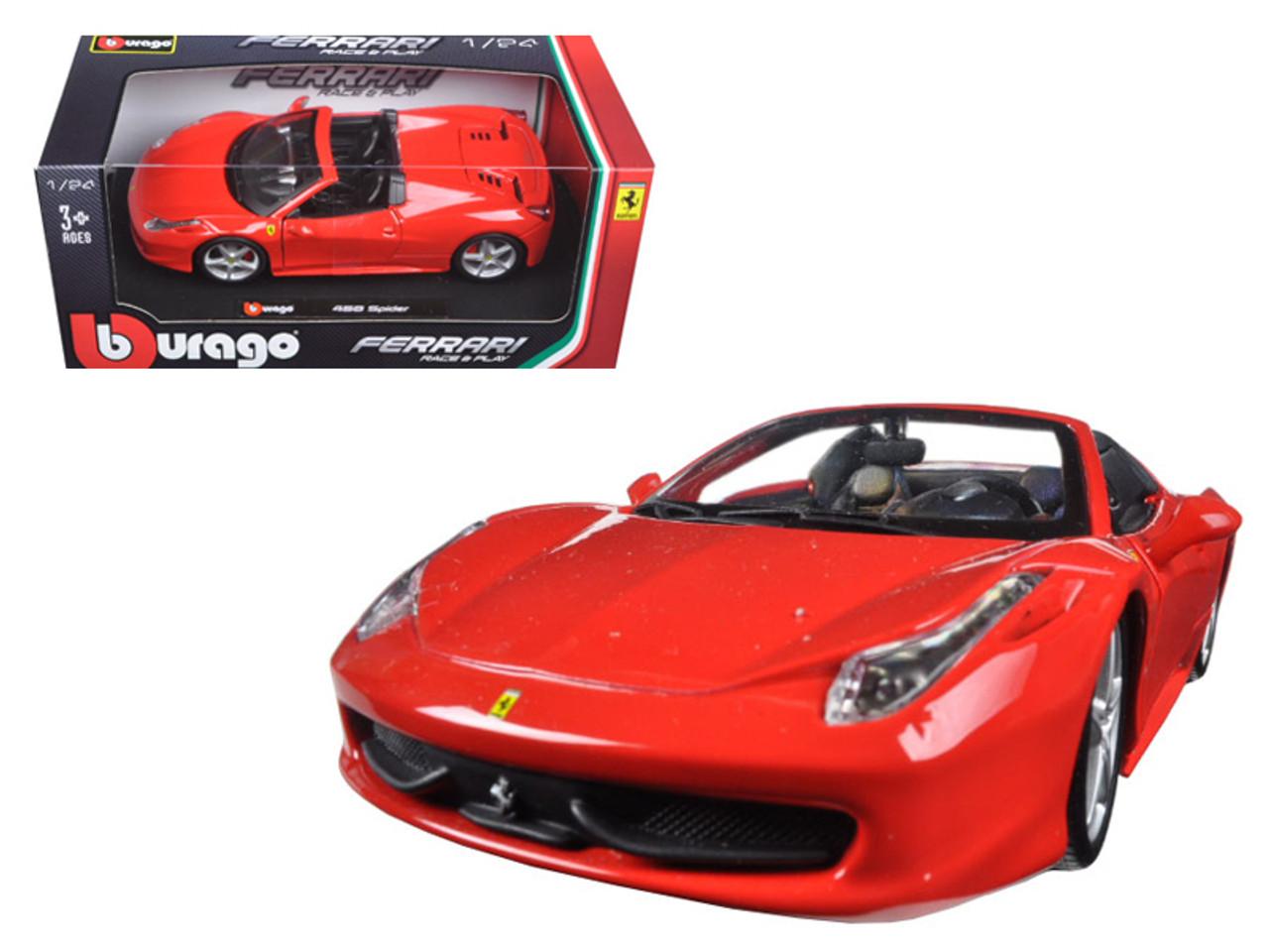 Ferrari 458 Spider Red 1/24 Diecast Model Car by Bburago