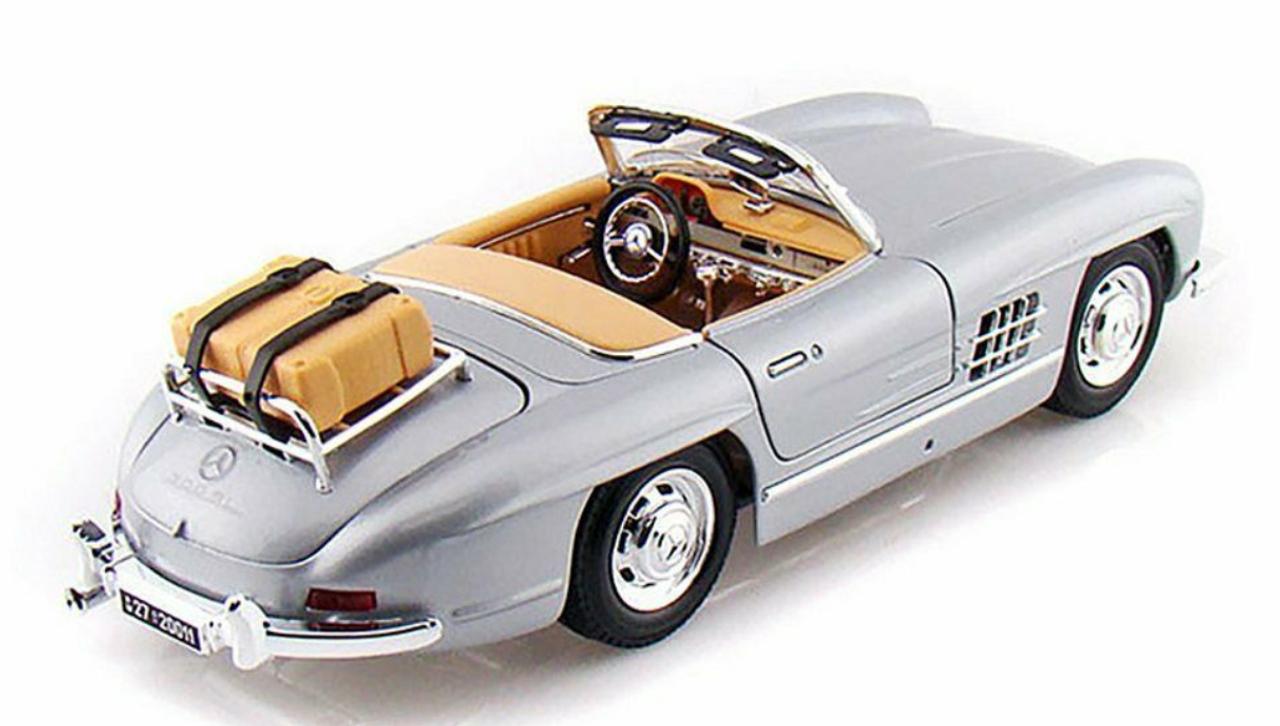 Burago BU12049S MERCEDES 300 SL TOURING 1957 SILVER 1:18 MODELLINO DIE CAST compatibile con