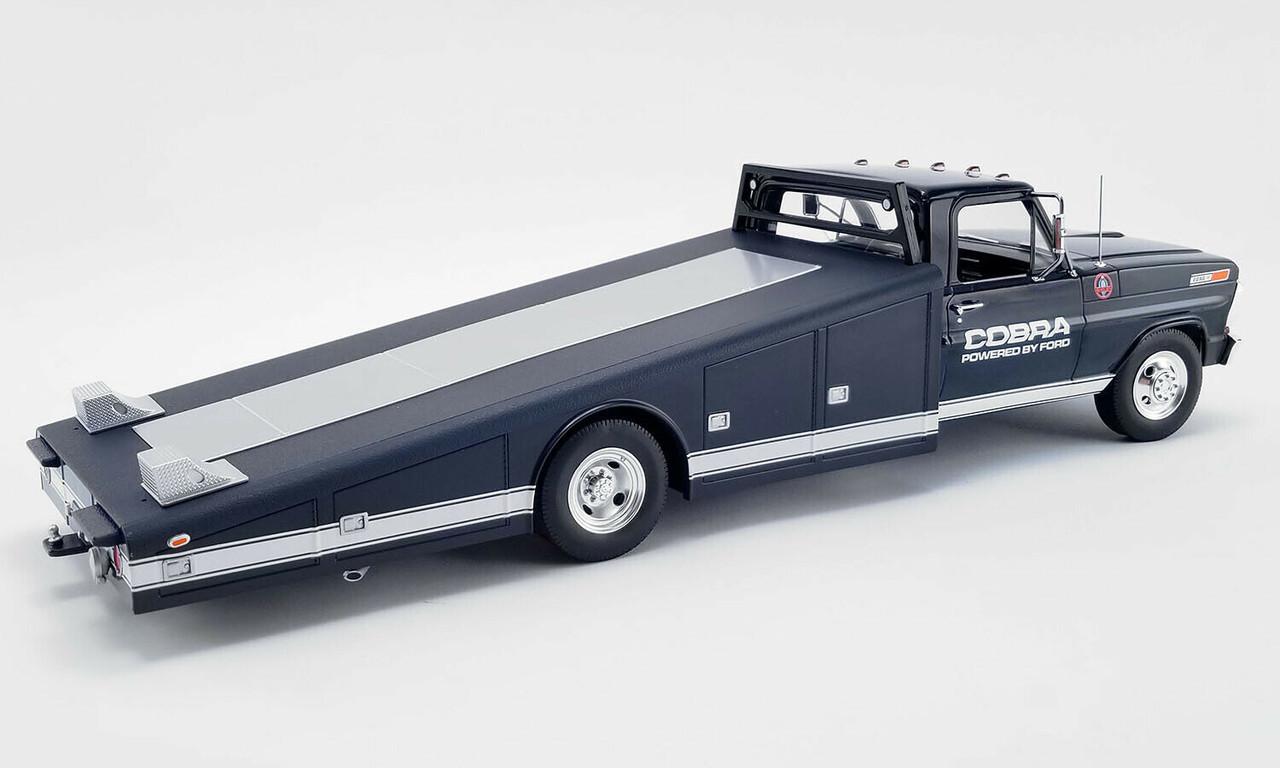 1/18 ACME 1970 Ford F-350 Shelby Cobra Ramp Truck (Blue) Diecast Car Model