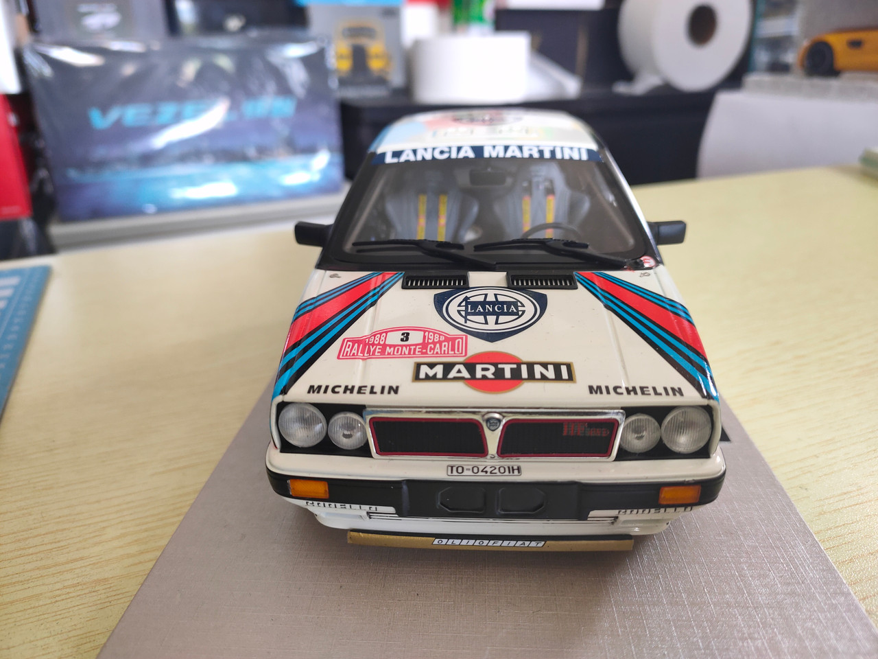 1/18 Top Marques Lancia Montecarlo Rallye Winner 1988 Resin Car Model