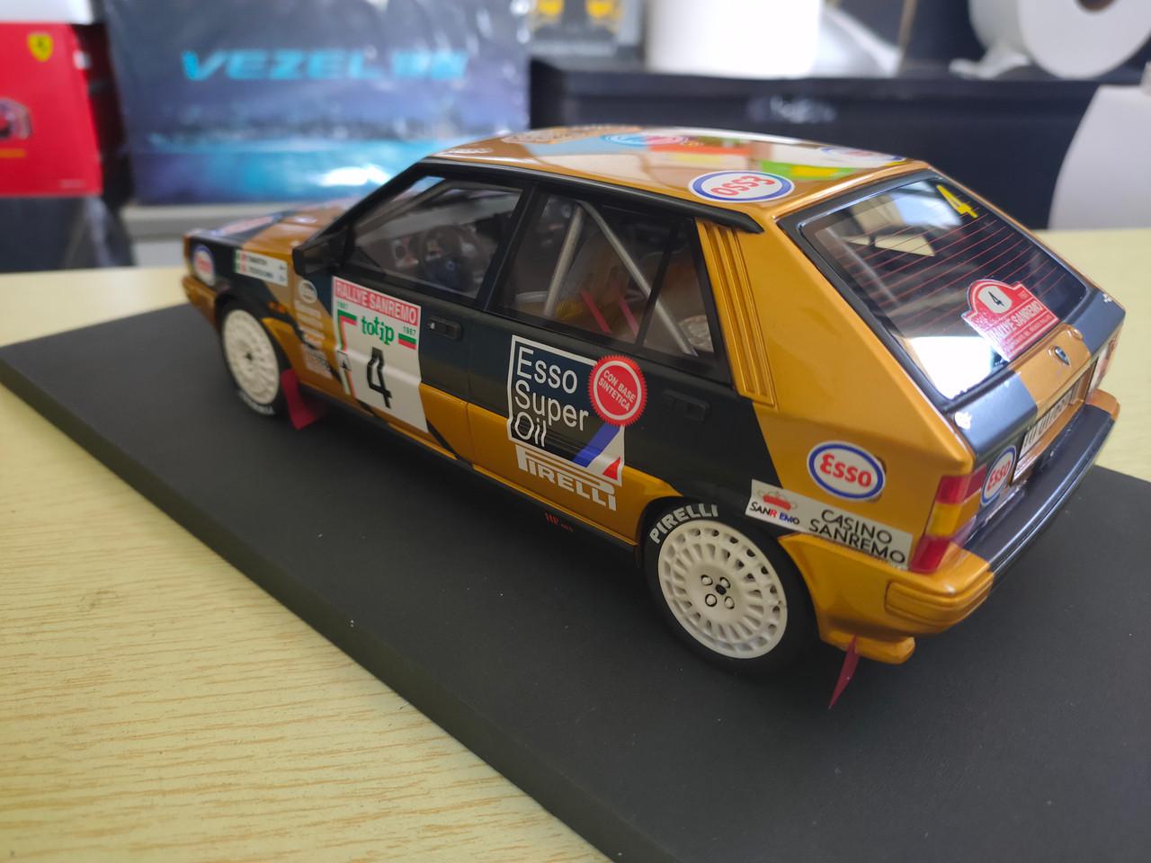 1/18 Top Marques Lancia 4wd Rallye San Remo 1987 Tabatoni Tedeschini #4 Resin Car Model