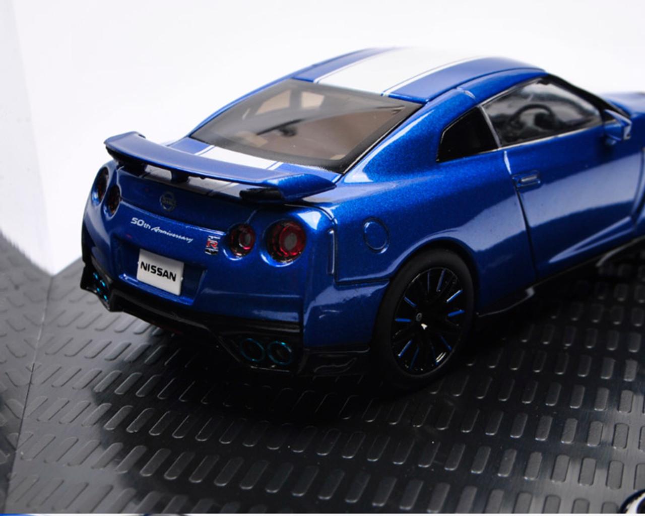 1 43 Kyosho 2020 Nissan Skyline Gt R Gtr R35 Blue 50th Anniversary Diecast Car Model Livecarmodel Com