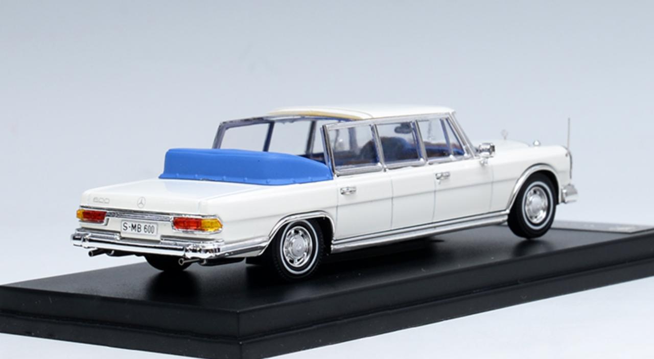 1/18 DCM Mercedes-Benz Mercedes Benz 600 W100 Pullman Convertible (White) Diecast Car Model
