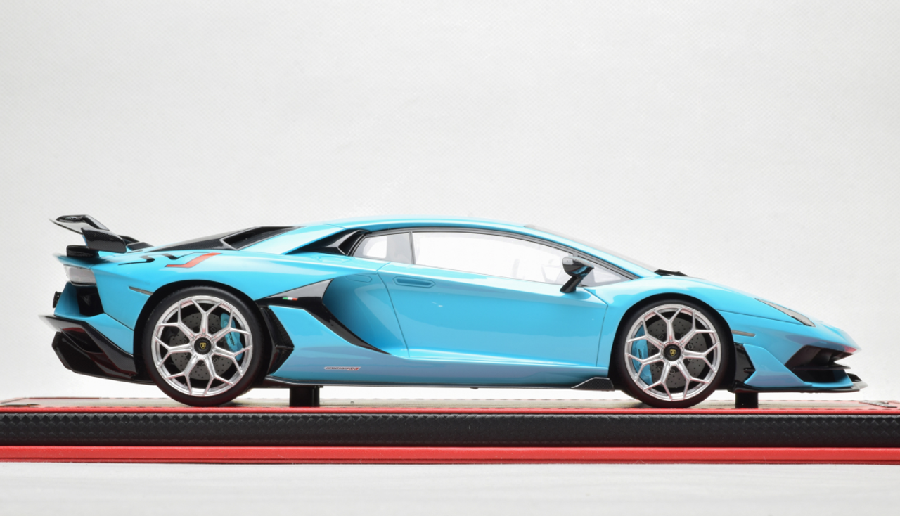 1/18 MR Lamborghini Aventador SVJ Hardtop (Baby Blue) Resin Car Model Limited 15 Pieces