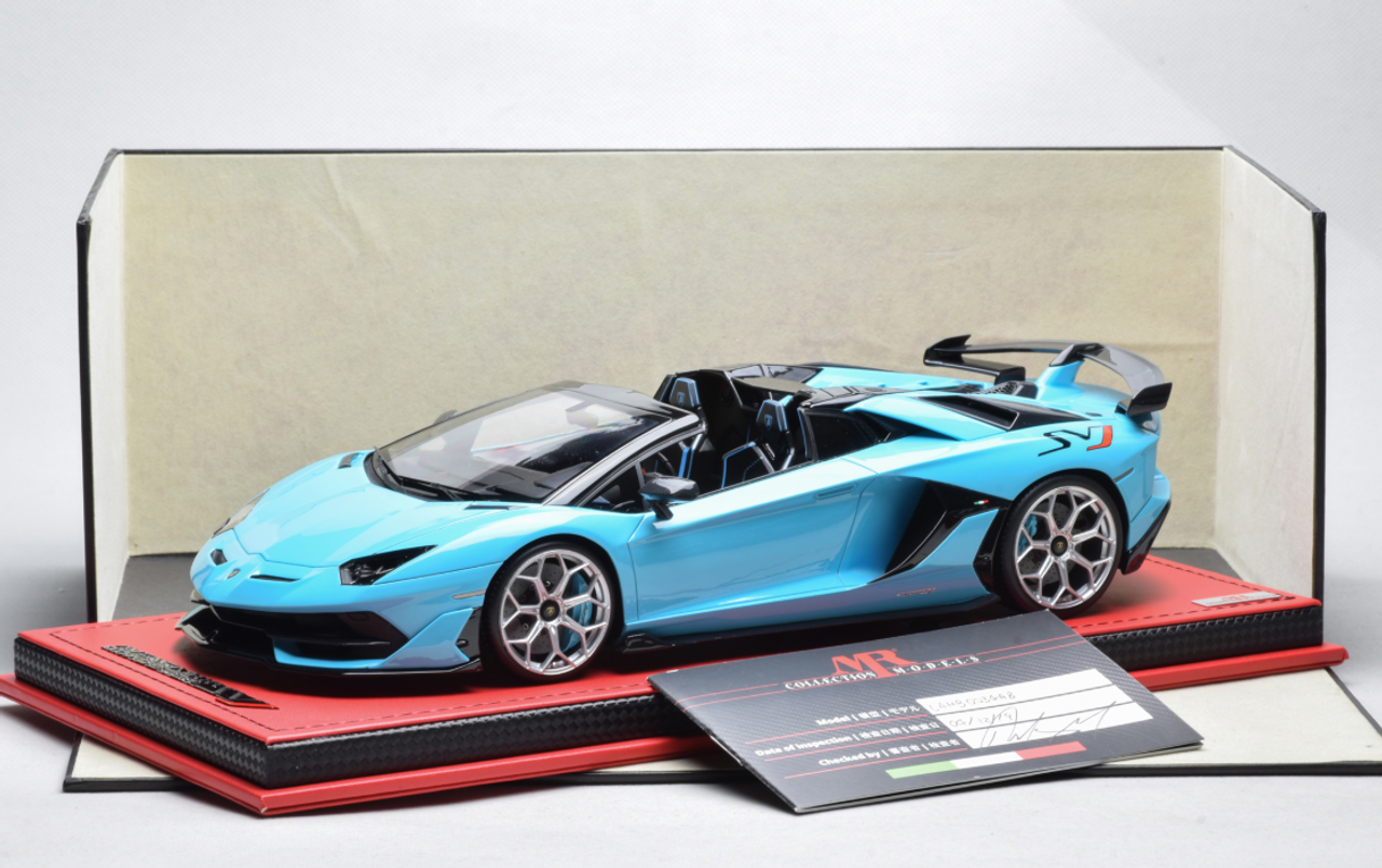 1/18 MR Lamborghini Aventador SVJ Roadster (Baby Blue) Resin Car Model Limited 15 Pieces