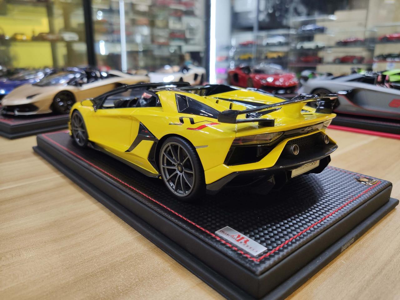 1/18 MR Lamborghini Aventador SVJ Roadster (Yellow) Resin Car Model Limited 49 Pieces